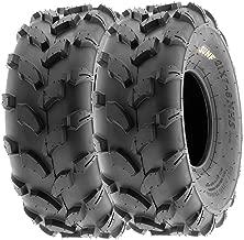 SunF 18x7-8 18x7x8 ATV UTV All Terrain Trail Replacement 6 PR Tubeless Tires A003, [Set of 2]