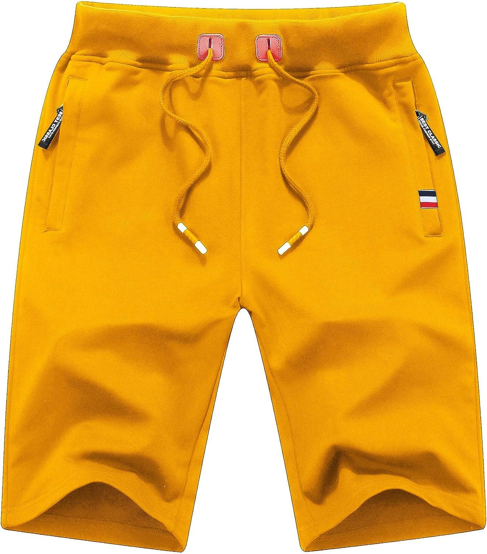MO GOOD Mens Casual Shorts Workout Fashion Comfy Camo Shorts Breathable Big and Tall Shorts