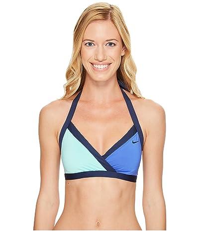 Nike Color Surge Surplice Bra (Medium Blue) Women