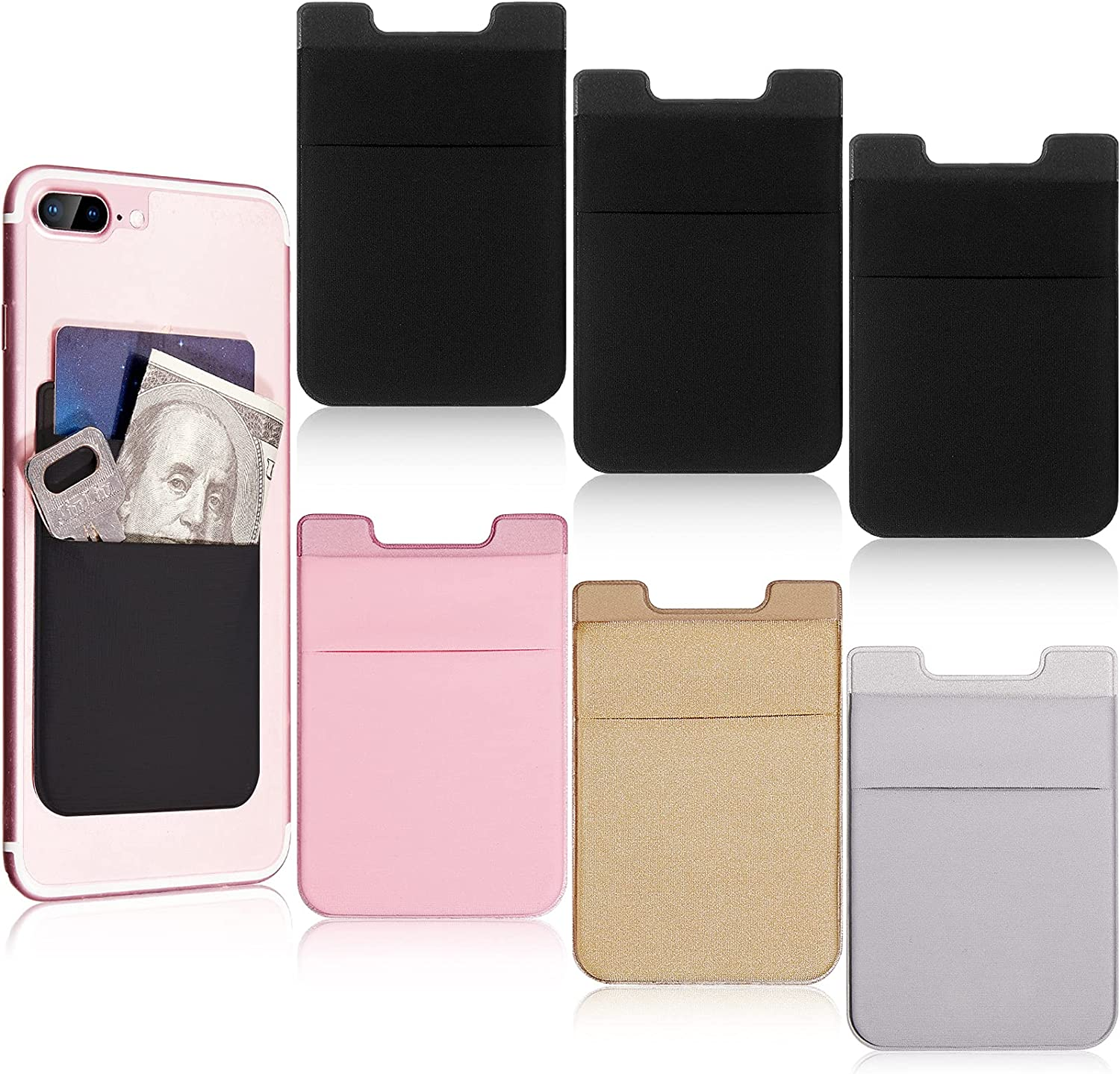 Frienda 6 Pieces Complete Free Shipping Phone Wallet Holder Ph Card Stretchy Daily bargain sale Cell