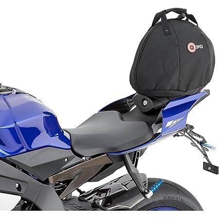 Qbag Hecktasche Motorrad Motorradtasche Heck Sitzbank Helmtasche 01 Rundum Gepolstert Robust Stabiler Tragegriff Praktisch Einfache Befestigung Schwarz 15 Liter Auto