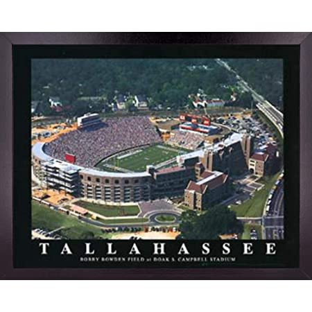 Florida Cambell Football Stadium Poster Wall Art Decor Framed Print 23 X 29 Fsu Bobby Bowden Sports Field Aerial Posters Pictures Gifts For Guys Girls College