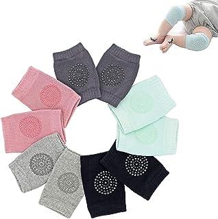 Rodilleras Antideslizantes para Gatear para bebés, 5 Pares de Calentadores de piernas Unisex para bebés y niños pequeños, ...
