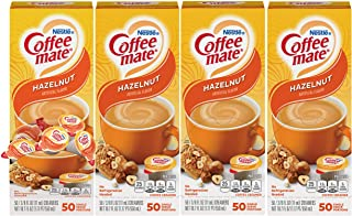 Nestle Coffee mate Coffee Creamer, Hazelnut, Liquid Creamer Singles, Box of 50 Singles (Pack of 4)