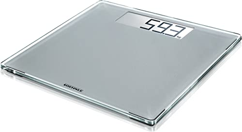 Soehnle 63855 Style Sense Comfort 400 Silver Bathroom Scale, Digital Scale with Large Weighing Surface, Weighs up to ...