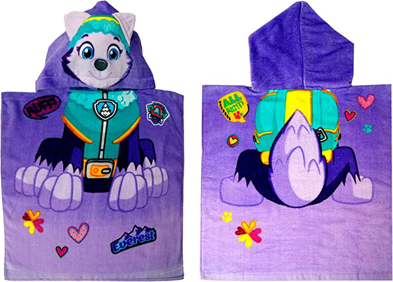 Paw Patrol Hooded Towel Poncho 3D Features On The Hood Official Licensed