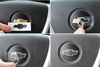 Steering Wheel Bowtie Overlay Decal - 2007-2013 Silverado - (Color: Gloss Black)