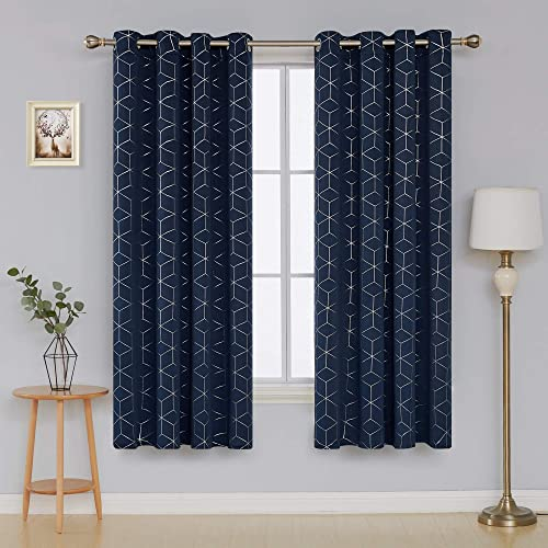 Navy Blue And Gray Curtains For Your Living Room Amazon Com