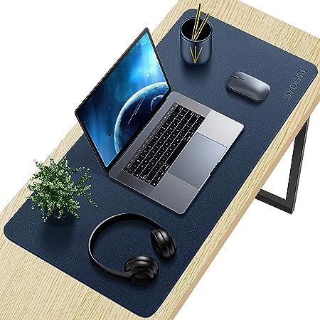 rutschfester PU Leder Schreibtisch Aothia/Leder Pad,Mauspad Laptop Schreibtisch Pad 80cm x 40cm, Dunkelblau wasserdichtes Schreibtisch Schreibpad f/ür B/üro und Zuhause B/üro Schreibtischmatte
