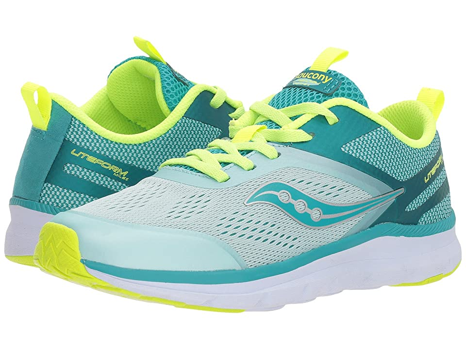 Saucony Kids Liteform Miles (Little Kid/Big Kid) (Turquoise/Citron) Girls Shoes