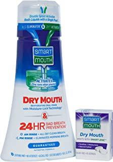 SmartMouth Dry Mouth Rehydrating Oral Rinse and Dry Mouth Relief Mints, Soothing Mint