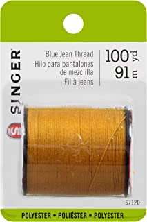 SINGER 67120 Blue Jean Thread, 100 Yards, Old Gold