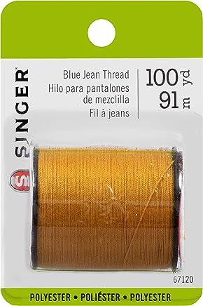 SINGER 67120 Blue Jean Thread, 100 Yards, Old Gold