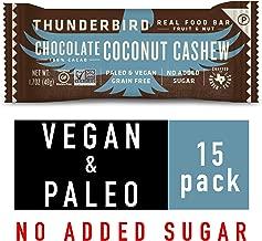 Thunderbird Paleo and Vegan Snacks - Real Food Energy Bars - Fruit & Nut Nutrition Bars - No Added Sugar, Grain and Gluten Free, Non-GMO, 15 Pack (Chocolate Coconut Cashew)