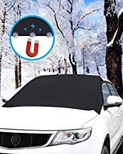 Car Windshield Snow Cover, ONE PIX Ice Removal Wiper Protector Covers with Magnetic, Large Windshield Winter Cover Fits Most Cars and SUV