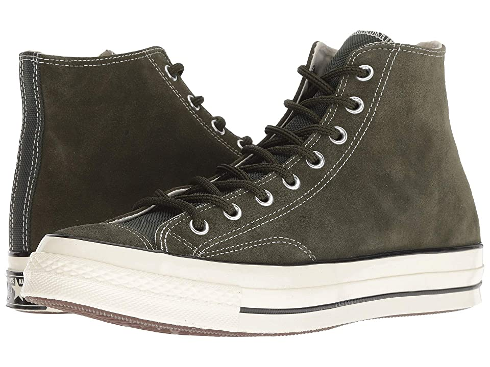 Converse Chuck 70 Base Camp Suede Hi (Utility Green/Black/Egret) Lace up casual Shoes