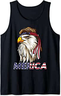 bald eagle mullet tank top