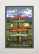 Estes Park, Colorado - Destinations Sign (11x14 Double-Matted Art Print, Wall Decor Ready to Frame)