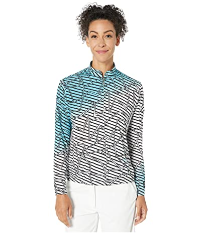 Jamie Sadock Sunsense(r) 50 UVP Puzzle Print Full Zip Jacket (Infinity) Women