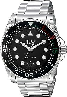 Gucci - – Diver – Reloj de Pulsera analógico automático para Hombre Acero Inoxidable ya136208