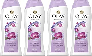 Body Wash for Women by Olay, Fresh Outlast Soothing Orchid & Black Currant Body Wash 22 oz, (4 Count)