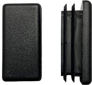 dexierp 3/4 X 1 1/2 inch (Pack of 10) Rectangular Tubing Plastic Insert Plug, Tubing Post End Cap, Chair Glide