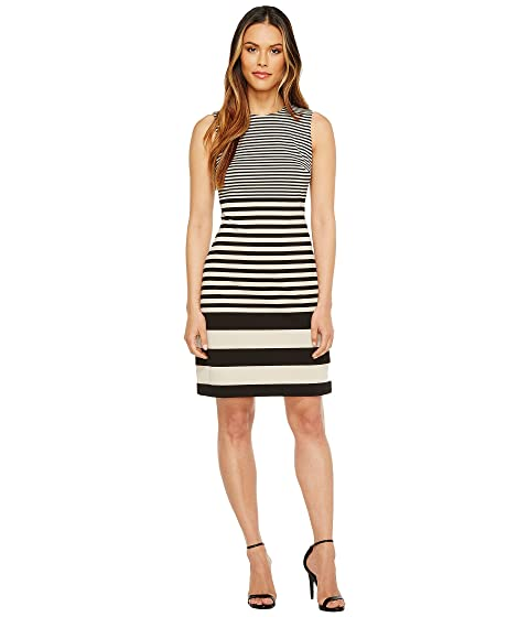 b33b7bb384a0f Calvin Klein Sleeveless Stripe Sheath Dress at 6pm