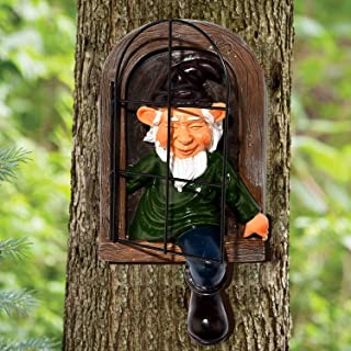 DUORT 8 Inch Garden Gnome Statue Elf Going Out Tree Hug Garden Peeper Yard Art-Whimsical Tree Hug Sculpture 3D Resin Gnome...