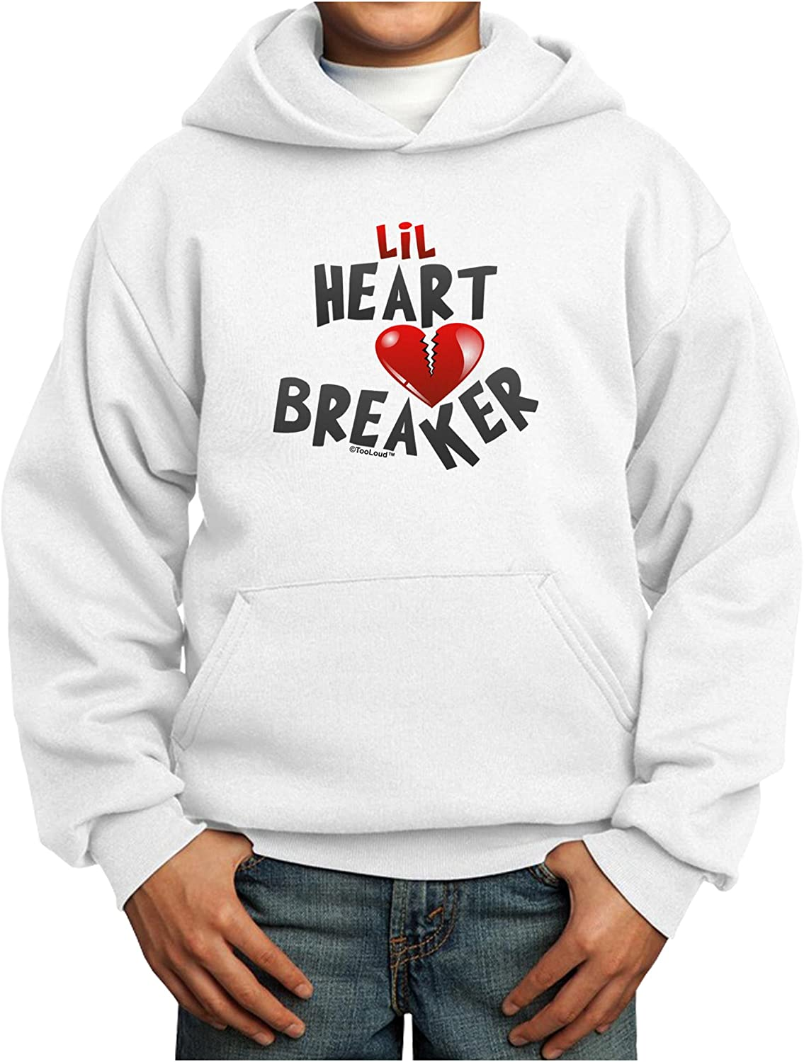 TOOLOUD Lil Heart Breaker Sweatshirt Super beauty product restock quality top Pullover Hoodie Max 50% OFF Youth