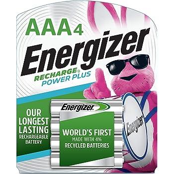 Energizer - Pilas recargables, AAA, Paquete de 4