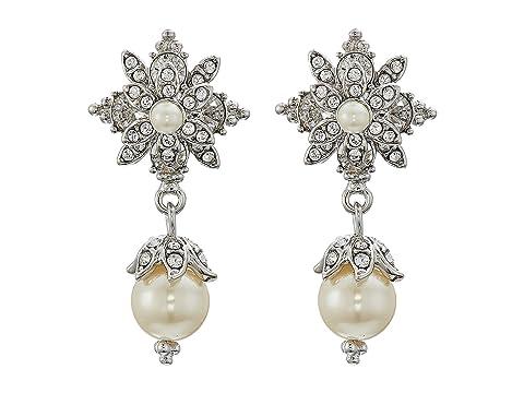 Marchesa Crystal Glass Pearl Drop Earrings