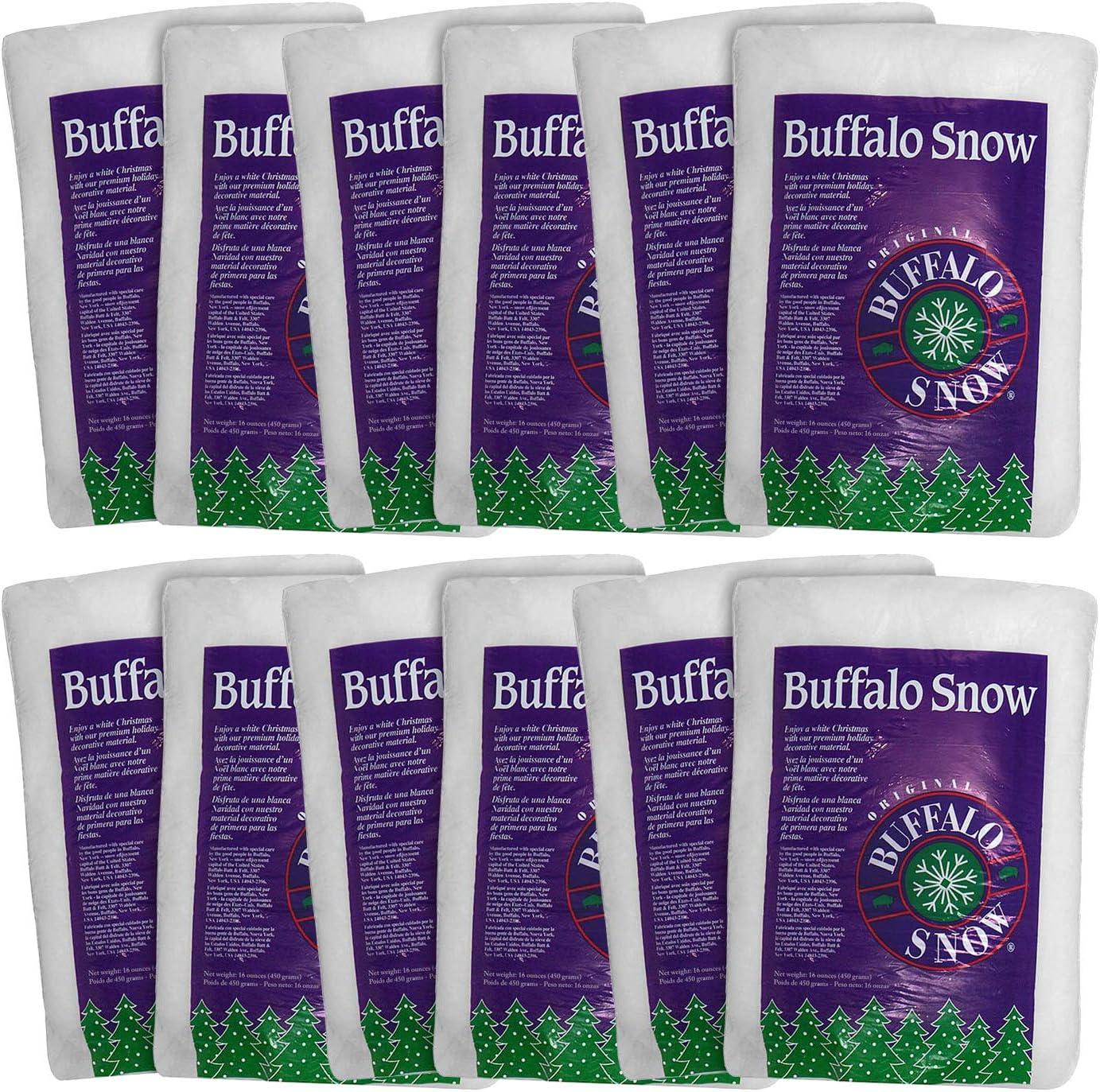Buffalo Max 85% OFF Snow Artificial Ranking TOP6 Faux Fluff Ounces 16 12-Pack Bag