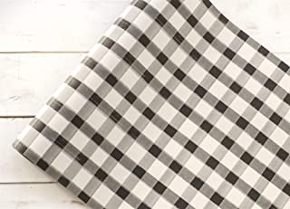 """Hester and Cook 20""""Black Painted Check Paper Runner"""