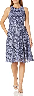 Eliza J Women's Lace Fit and Flare Midi Dress