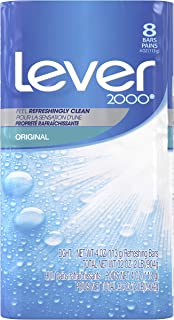 Lever 2000 Bar Soap Refreshing Body Soap and Facial Cleanser Original Effectively Washes Away Bacteria 4 oz 8 Bars
