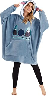 Disney Hoodie Blanket, Sherpa Fleece Oversized Hoodie Stitch Disney Gifts