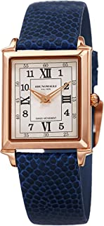 Bruno Magli Women's Valentina Romana Swiss Quartz Tank Shaped Italian Leather Strap Watch