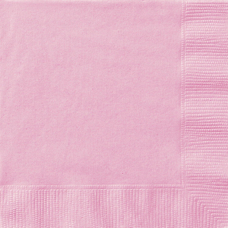 Light Pink Beverage Napkins, 20ct