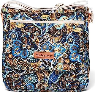 Malirona Canvas Messenger Bag Cross Body Purse Women Travel Purse Shoulder Satchel Floral Pattern