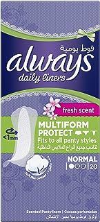 حفاظات يومية للنساء من اولويز تحتوي على رائحة منعشة عادية ومتعددة الاستخدامات, 8001090542625 , , 20 count, ,, 1