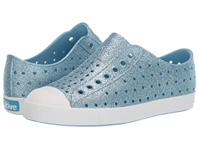 Native Kids Shoes Jefferson Bling Glitter (Little Kid) (Light Sky Bling/Shell White) Girls Shoes