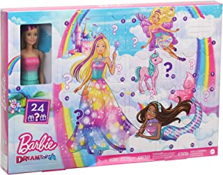 Barbie Dreamtopia Advent Calendar: Blonde Doll, 3 Fairytale Doll Fashions, 10 Accessories and 10 Storytelling Pieces Inclu...