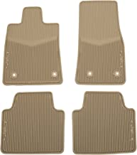 GM Accessories 22860184 First- and Second-Row Premium All-Weather Floor Mats in Very Light Cashmere with CTS Script