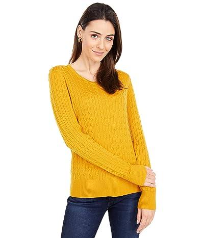 Pendleton Merino Cable Pullover (Gold Heather) Women