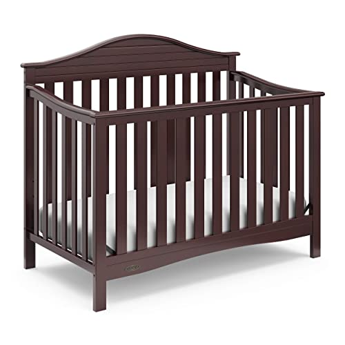 Graco Harbor Lights 4-in-1 Convertible Crib, Espresso, Easily Converts to Toddler Bed Day Bed or Full Bed, Three Position Adjustable Height Mattress (Mattress Not Included)