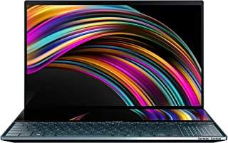"ASUS ZenBook Pro Duo UX581 Laptop, 15.6"" 4K UHD NanoEdge Touch Display, Intel Core i9-10980HK, 32GB RAM, 1TB PCIe SSD, GeF..."