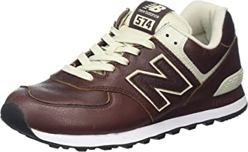 new balance 574 uomo in pelle