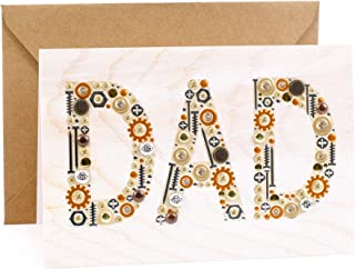 Hallmark Signature Wood Birthday Card for Dad (Nuts and Bolts)