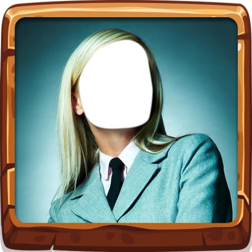 Geschäftsfrau-Foto-Montage