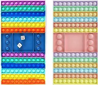 2 عدد بازی تخته شطرنج اسباب بازی های حرکتی پاپ - بسته استرس سرگرم کننده برای آموزش و یادگیری - بازی های Fidget Popping